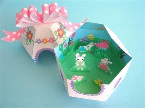 easter egg paper crafts easter egg diorama printable paper craft fantastic toys