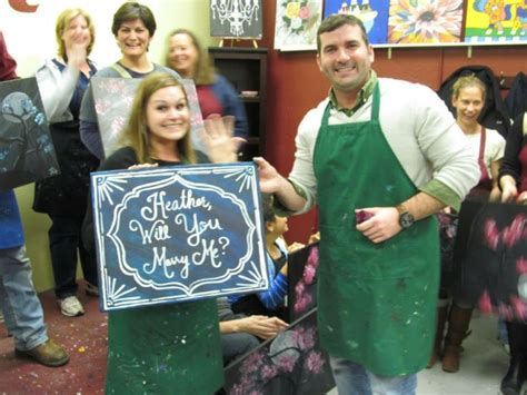 paint with a twist college station 17 best images about pwat wedding proposals on