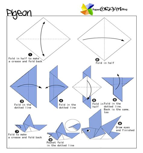 origami pigeon august 2011 paper origami guide