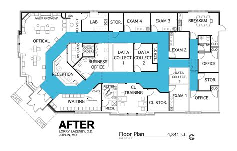optometry office floor plans floor plan study barbara wright design lazenby after