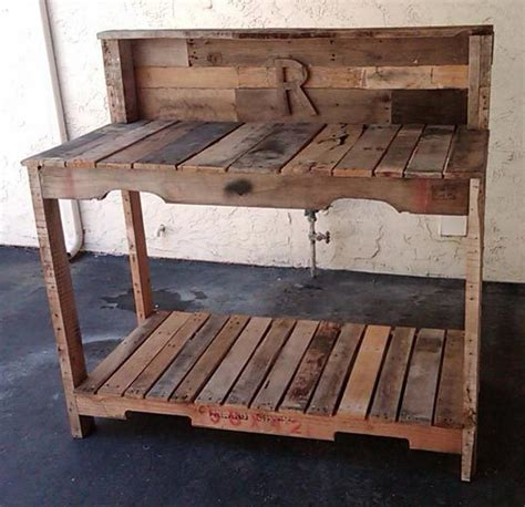 Gardening Workbench Pallets Unpalletable Or Great Recycled Resource Mise