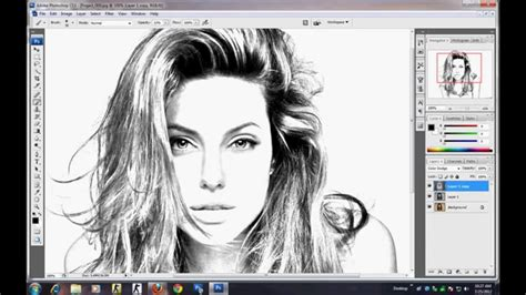 drawing in photoshop photoshop tutorial how to make sketch using image