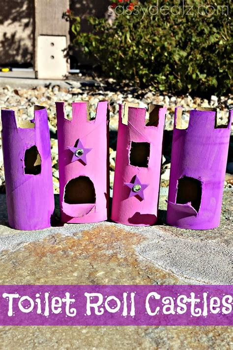 toilet paper roll castle craft toilet paper roll castles craft idea for crafty