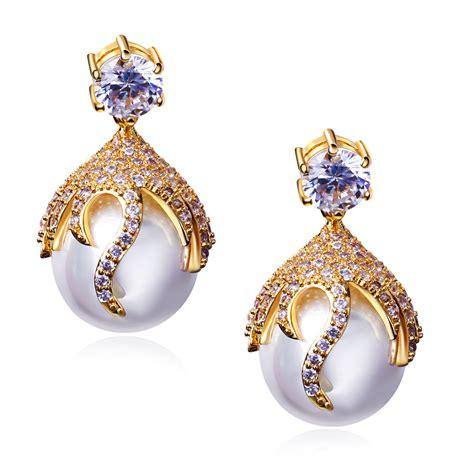 jewelry earrings 2015 beautiful peal drop earrings for wedding bridal