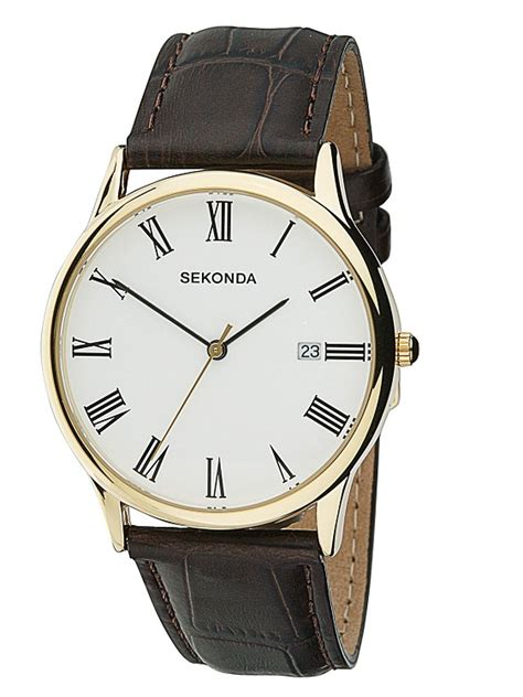 mens leather watches sekonda 3676 hollins hollinshead