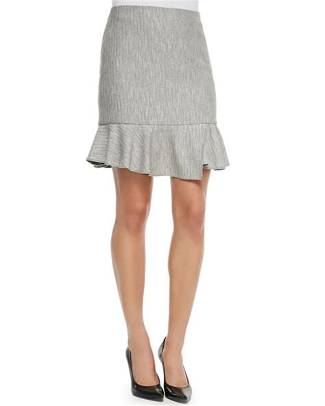 knit ruffle skirt tibi knit ruffle skirt