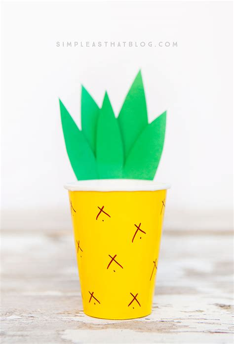 paper pineapple craft pineapple cup craft