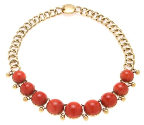 coral necklace william spratling gold and coral necklace and bracelet at