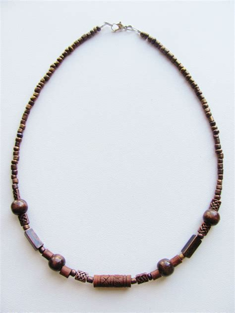 mens beaded necklaces evil s eye copper s surfer style beaded choker