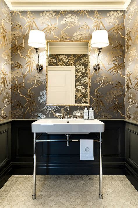 designer bathroom wallpaper 20 gorgeous wallpaper ideas for your powder room