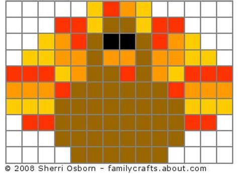 perler bead turkey pattern turkey perler perler