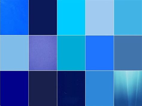 shaeds of 20 popular shades of blue color names