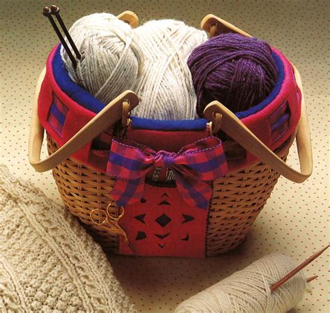 knitting basket cozy knitting basket pattern allfreesewing