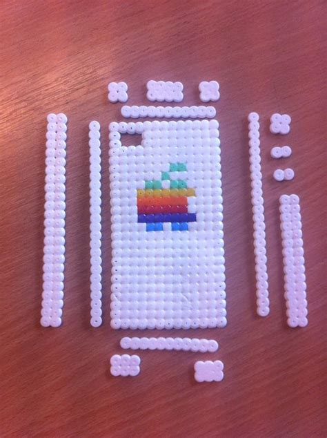 cool perler iphone made with fuse perler fuse bead