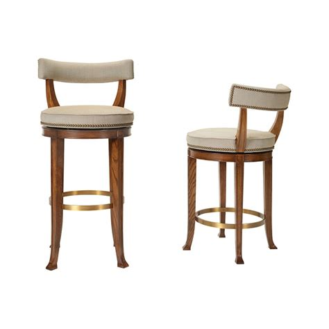 swivel bar chairs with backs hickory chair 1911 collection newbury swivel curved back