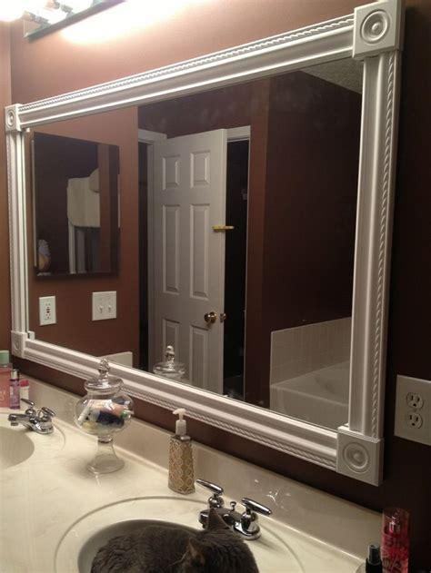 Framed Bathroom Mirror Ideas by Best 25 Frame Bathroom Mirrors Ideas On
