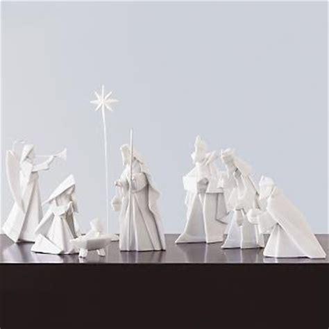 origami nativity set the kersten haus modern nativity