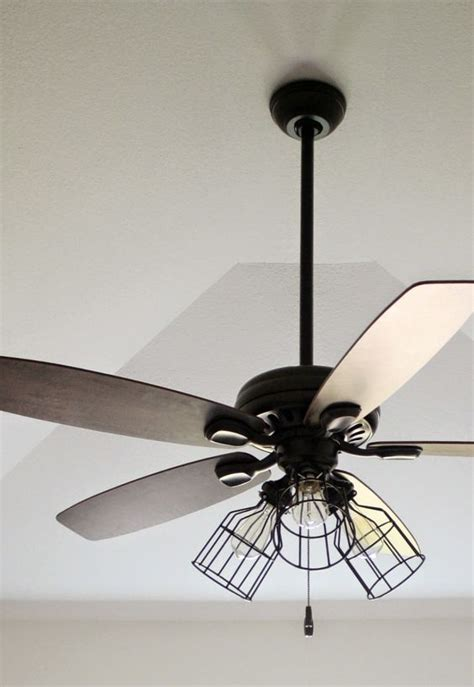 ceiling fan with cage light diy cage light ceiling fan diy home projects