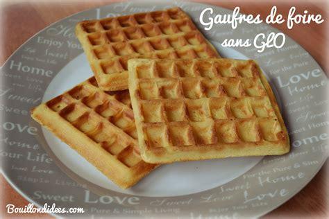 gaufres de foire sans glo gluten lait œuf