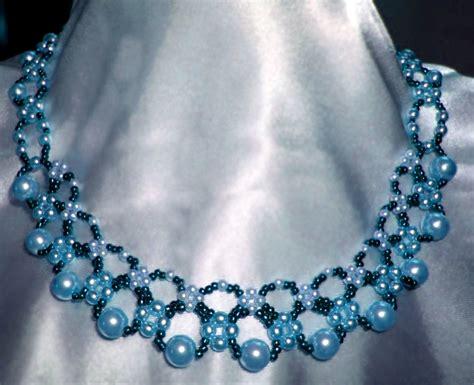 bead magic free pattern for pretty necklace sea date magic