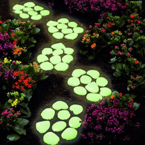 glow in the paint stepping stones awesome glow in the pebbles home design garden