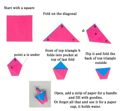 easy origami basket on a shoestring papercraft easy origami easter baskets