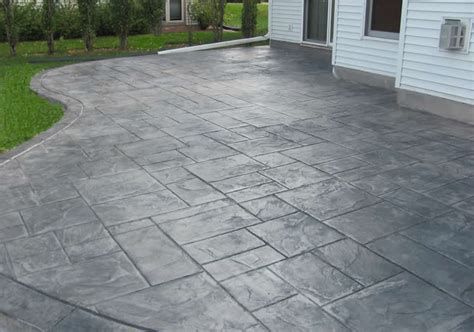 backyard concrete patio designs backyard sted concrete patio buchheit construction