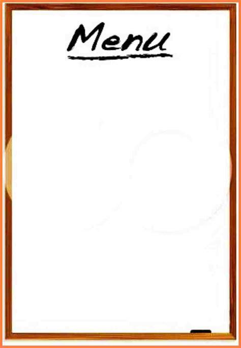 6 blank menu template dentist resumes