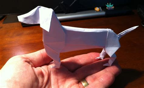 dachshund origami 290 dachshund setting the crease