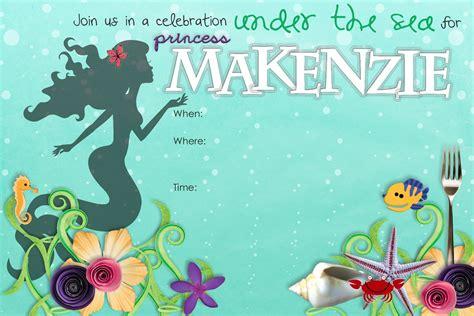 stuff sisters make little mermaid birthday invitation