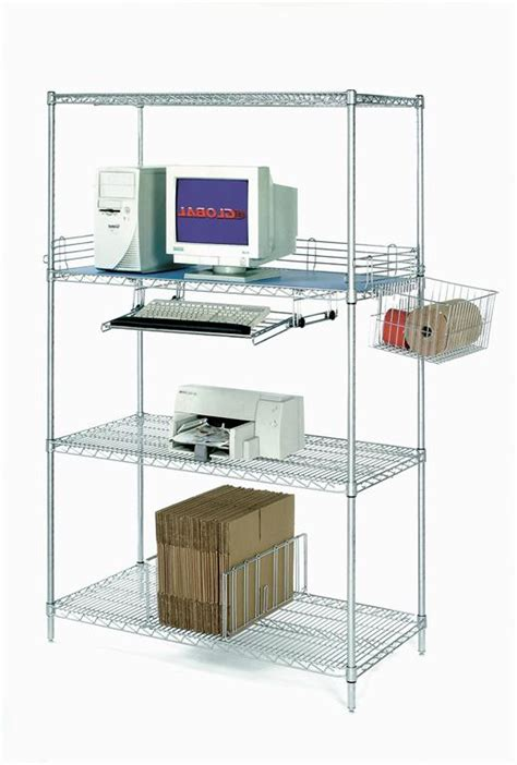 nexel wire shelving computer racks nexel industries lan wire shelving carts