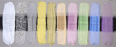 acrylic paint uses layering and mixing with iridescent and interference