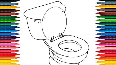 how to color colours for toilet coloring pages how to color toilet