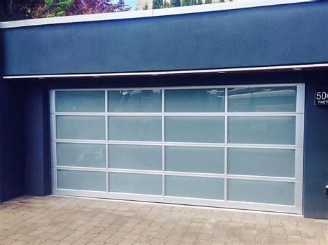 modern glass garage doors modern glass garage doors