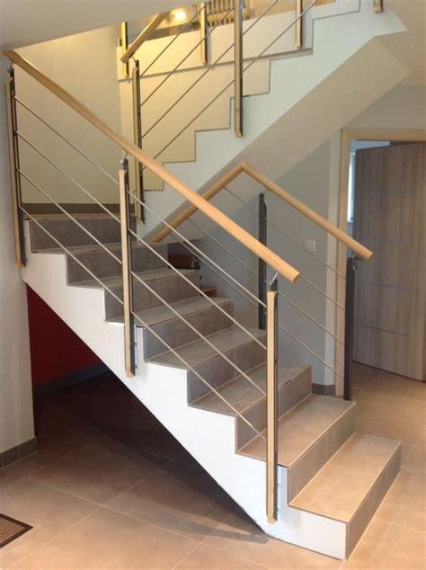 habillage et garde corps pour escalier b 233 ton contemporain escalier other metro par