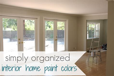 paint colors interior my home interior paint color palate simply organized