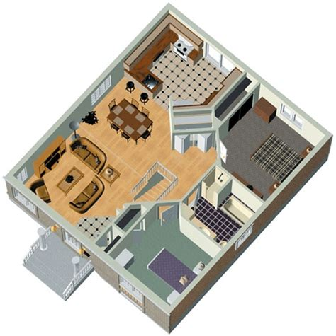 3d house plans free two bedrooms 85m2 house plan 3d home plans included