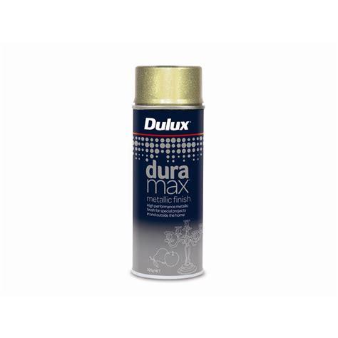 spray painter bunnings dulux duramax 325g metallic finish gold spray paint