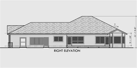 house plans one level one level house plans side view house plans narrow lot house