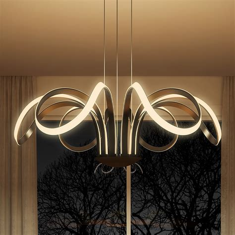 led chandelier lighting capella vmc32420bl modern flower pedal led chandelier by