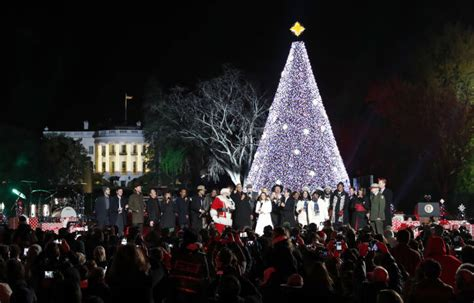 dc tree lighting photos national tree lighting 2016 wtop