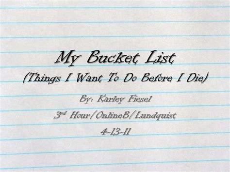 my list my list power point