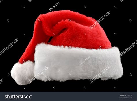 santa hat black santa hat isolated on against a black background stock