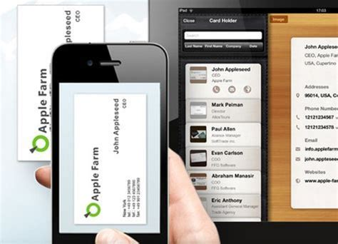 app for cards app spotlight scan business cards to your