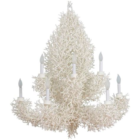 white coral chandelier large white faux coral chandelier at 1stdibs