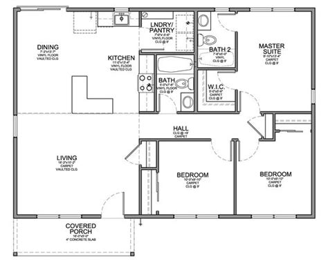 floor plans small homes floor plan for affordable 1 100 sf house with 3 bedrooms