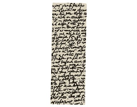 black and white modern rug black and white collection manuscrit rug hivemodern