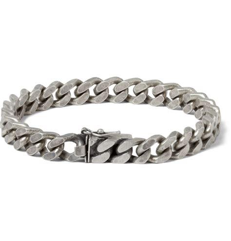 silver bracelet laurent burnished sterling silver chain bracelet in