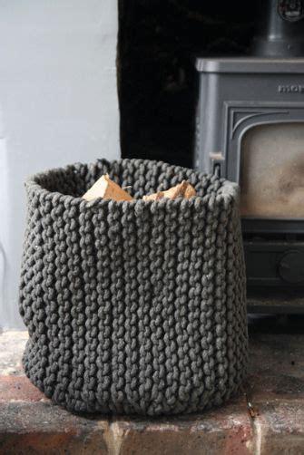 knit rope basket rope knitted storage basket knitting patterns