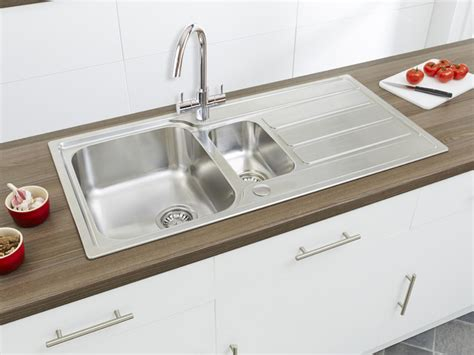 contemporary stainless steel kitchen sinks linus 1 5b stainless steel sink modern kitchen sinks